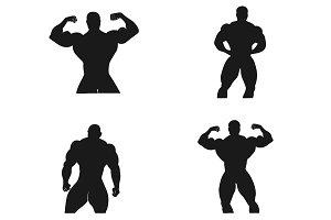 Bodybuilding, Powerlifting, vector,