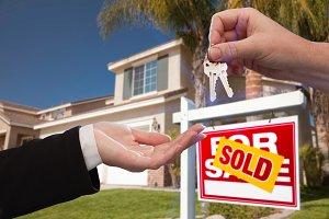 Handing Over House Keys, Home, Sign