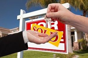 Handing Over Keys, House, Sign