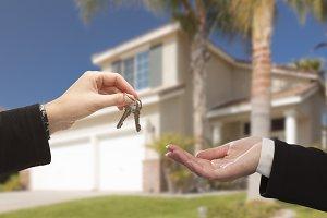 Handing Over Keys at House