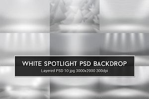 White Spotlight PSD Backdrop