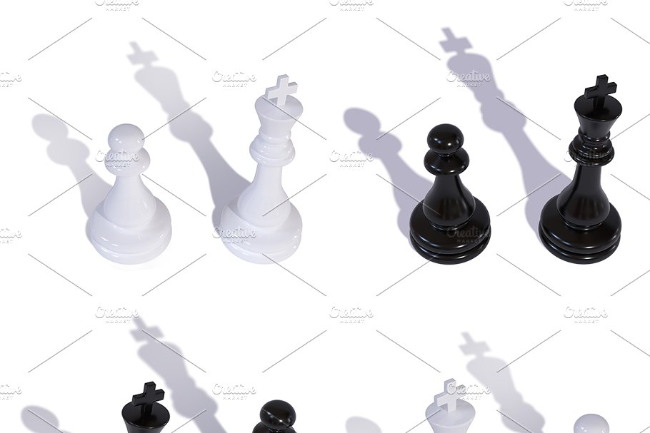 Chess pieces king and pawn mini Set