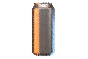 Aluminium beer or soda mock up