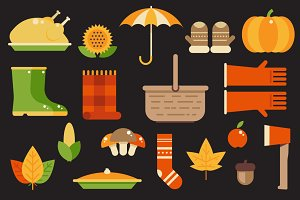 Autumn Illustrations Pack