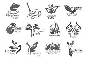 Vegetarian cuisine, vegan icons