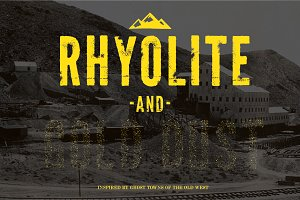 Rhyolite + Gold Dust Fonts