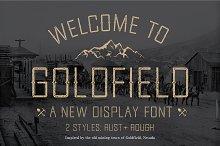 Goldfield Rust + Rough Font