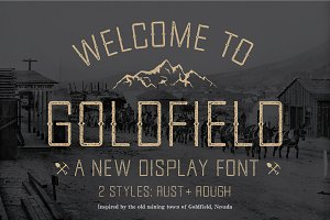 Goldfield Rust + Rough Font
