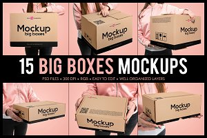 15 Big Boxes Mockup Set