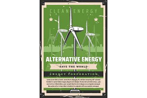 Alternative energy, windmills