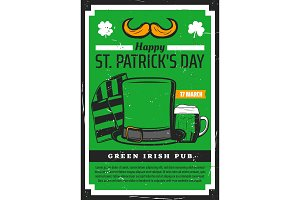 Saint Patrick day Irish pub