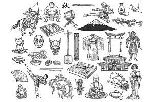 Japan culture symbols, history