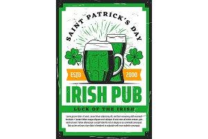 St Patricks clover, beer, shamrock