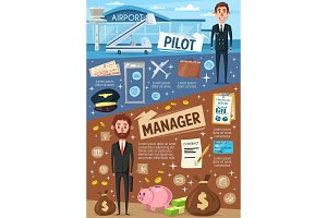 Aviation pilot, manager profession