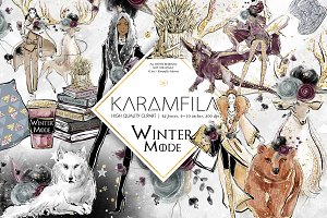 Whimsical Winter Fashion Clipart