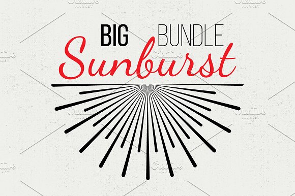 Big Sunburst Bundle ~ Objects on Creative Market