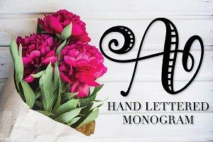 Hand Lettered Monogram