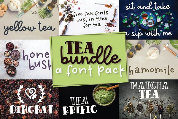Tea Bundle - A Varie-Tea Font Pack!