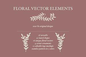 Floral Vector Elements