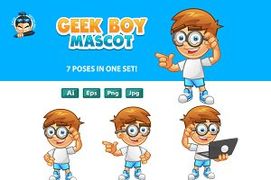Geek Boy Mascot