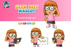 Geek Girl Mascot