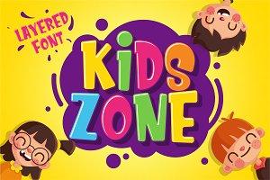 Kids Zone // Layered Font