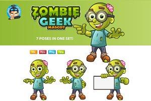 Zombie Geek Mascot