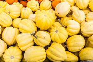Yellow acorn winter squash