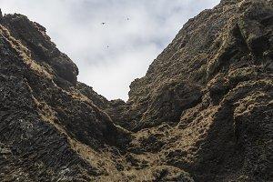 Sea cliffs at Vik, Iceland