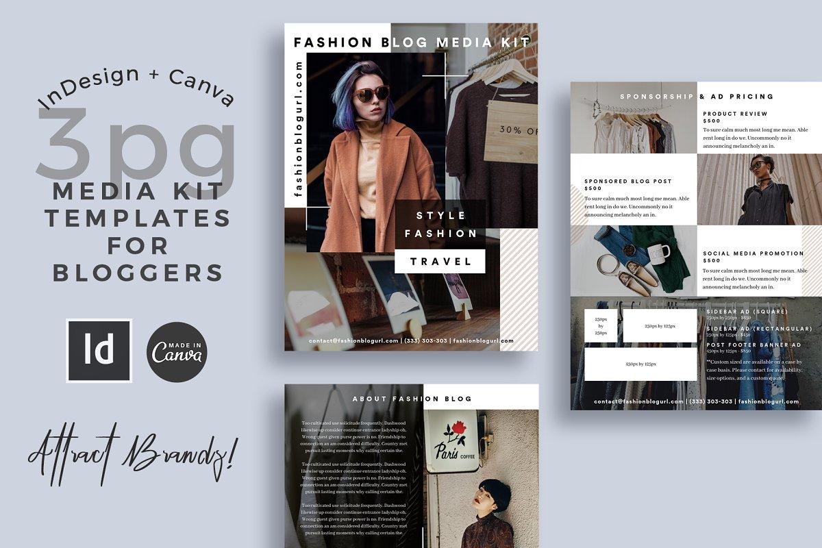 Media Kit Template InDesign + Canva