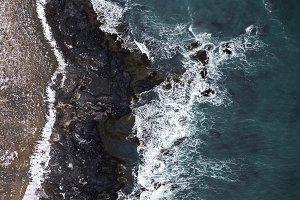 Aerial coastline Iceland