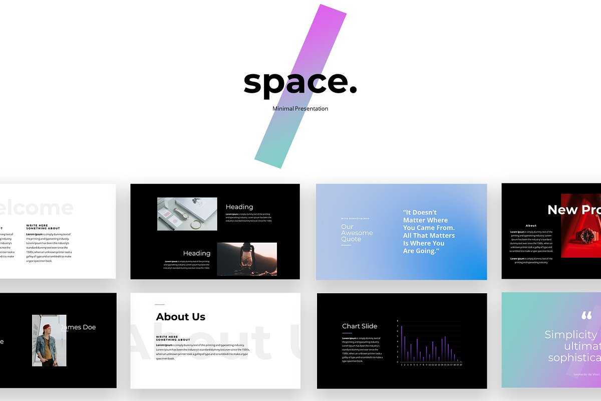 Space Minimal Powerpoint Template Powerpoint Templates
