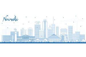 Outline Nairobi Kenya City Skyline