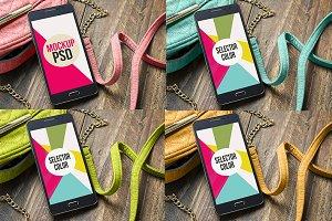 PSD Phone Mockup Beauty choose color