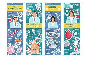 Endocrinology, dentistry, cardiology