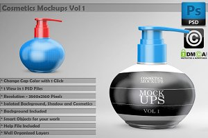 Beauty Cosmetics Mockups Vol 1