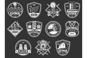 Electrical service and energy icons