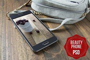 PSD Phone Mockup Beauty
