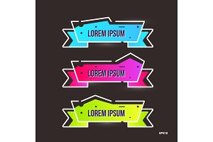 Set of vector banners. Color