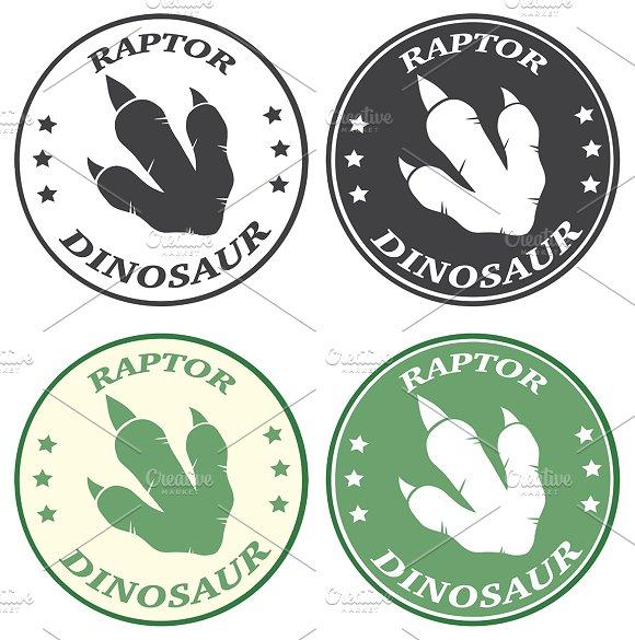 Dinosaur Footprint. Collection - 3 - Illustrations