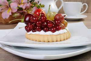 Dessert with fruits
