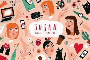 SUSAN Girlish Stickerpack