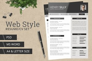 Web Style Resume/CV - With MS Word
