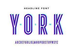 Alphabet and font. Bold, regular and