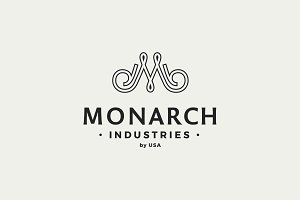 Vintage M Monogram Logo Template