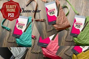 PSD Phone Mockup Beauty 5