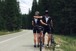 The blek goat cycling couple