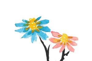 watercolor flower 1