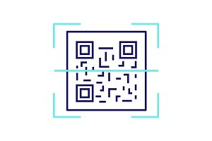 QR code scanning color icon