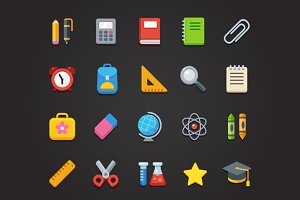 School icons + pattern